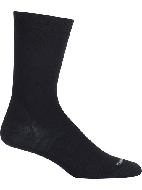 Icebreaker LifeStyle Fine Gauge UL Crew Socks black/twister hthr